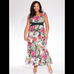 Igigi Maldives Maxi Dress In Rose Garden 26w 28w
